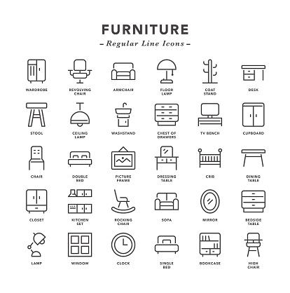 Furniture - Regular Line Icons