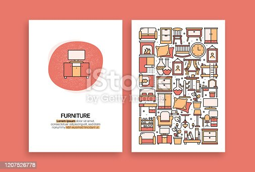 Furniture Related Design. Modern Vector Templates for Brochure, Cover, Flyer and Annual Report.