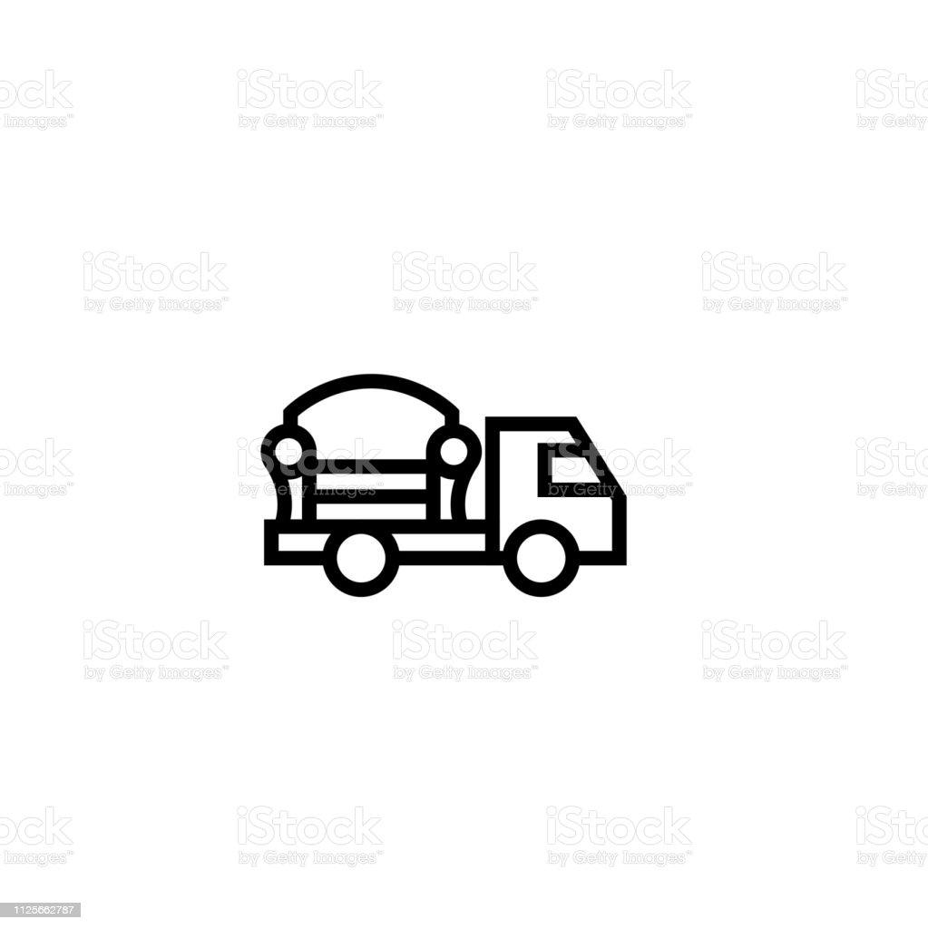 Möbel Versand Lastwagensymbol Im Haus Objekt Lieferung