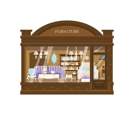 Furniture shop exterior