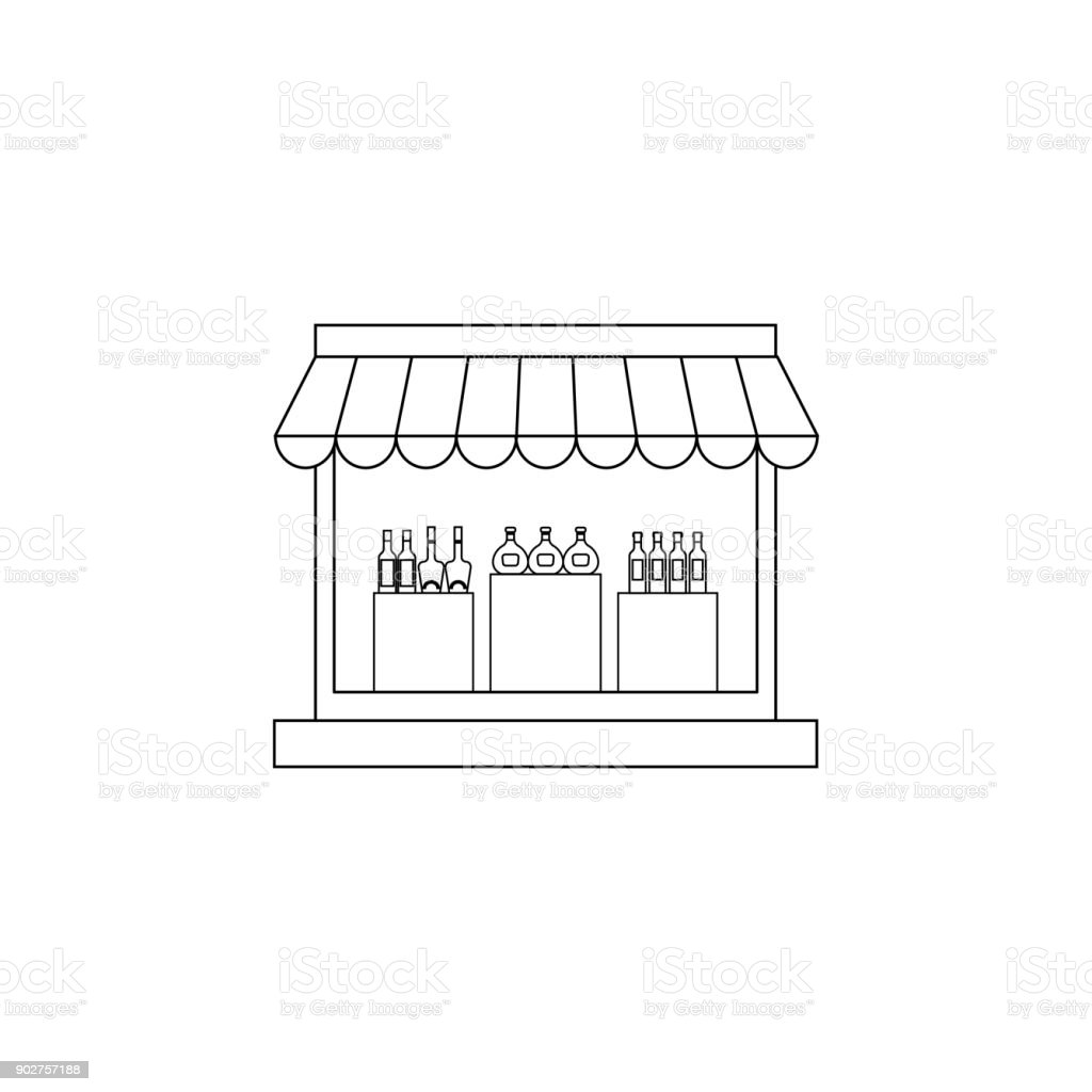 Furniture Store Icon. Hypermarket And Goods For Sale Elements. Premium  Quality Graphic Design Icon