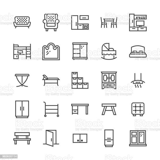 Furniture vector flat line icons living room tv stand bedroom baby vector id985655114?b=1&k=6&m=985655114&s=612x612&h=jxl6433hf6qykybeqxony0c5rwquxa8lzghtlzxzlme=