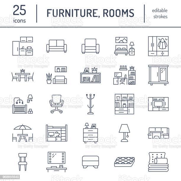 Furniture vector flat line icons living room tv stand bedroom home vector id968855640?b=1&k=6&m=968855640&s=612x612&h=br2bfayu0gp2g8ghasmw0hi6geg4rxy7mzwc2poq ce=