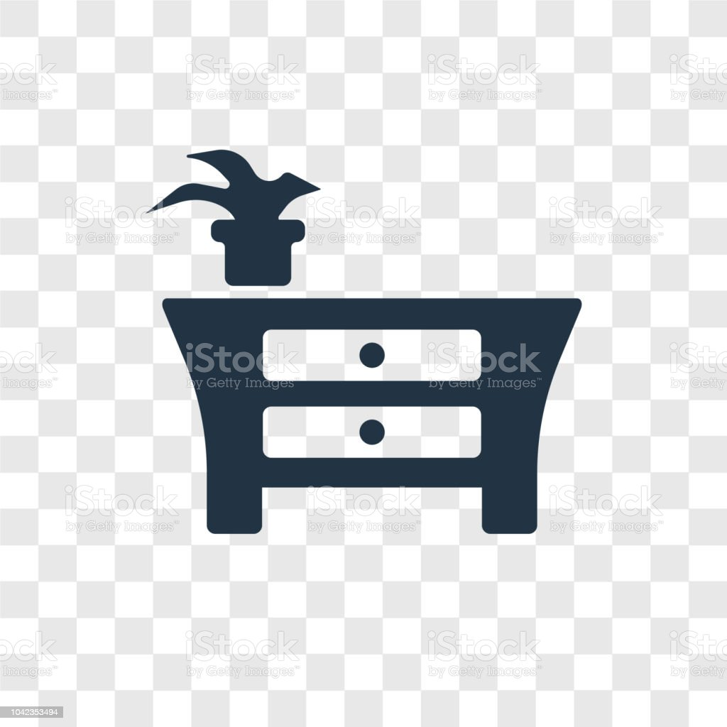 Furniture Vector Icon Isolated On Transparent Background Furniture