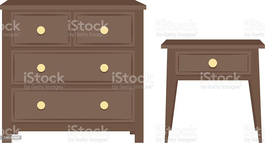 Furniture vector art illustration