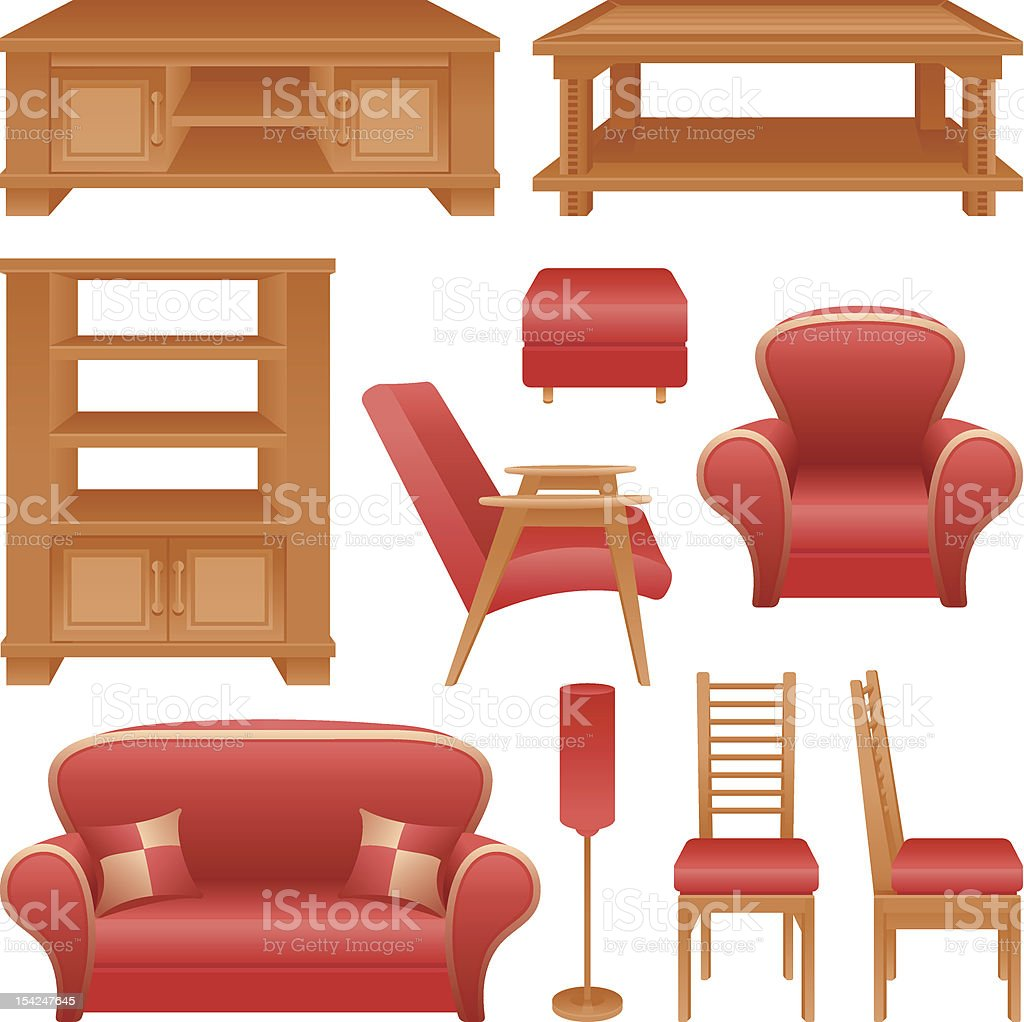 Furniture royalty-free stock vector art