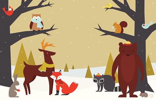 Furry Winter Woodland
