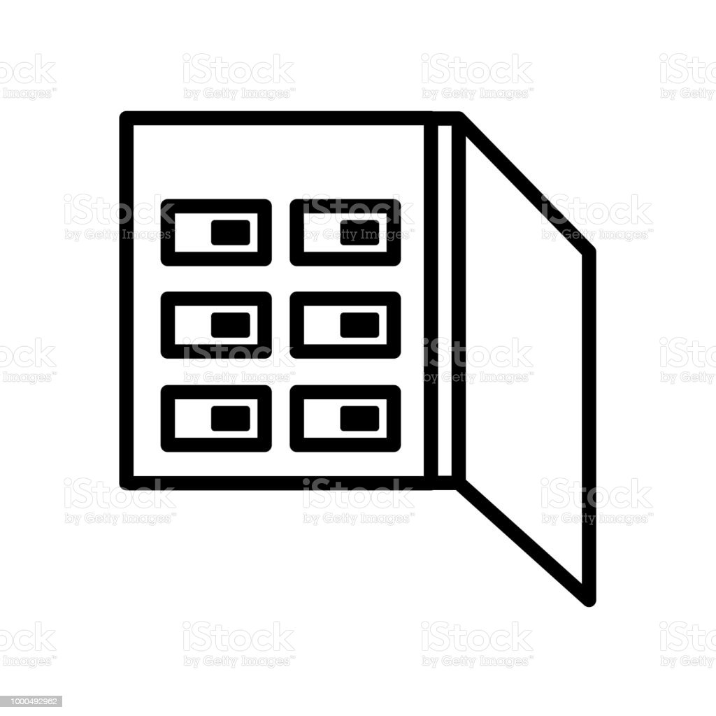 Fuse box icon isolated on white background royalty-free fuse box icon  isolated on white