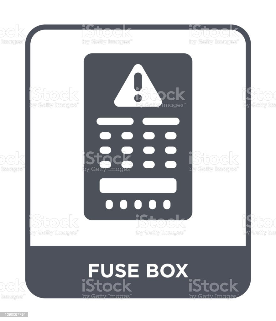 fuse box icon vector on white background, fuse box trendy filled icons from  electrian connections