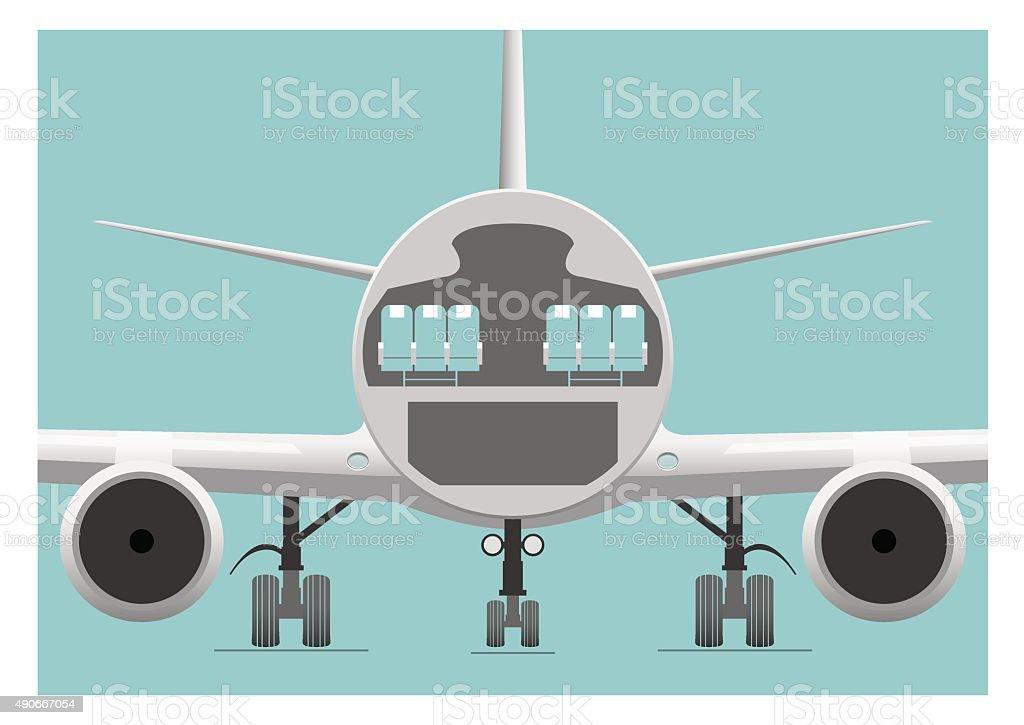 Fuselage cross section vector art illustration