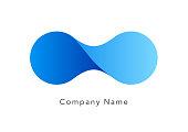 Fusion image logo mark set, design, water, icon, sign