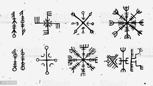 Futhark norse islandic and viking runes set magic hand draw symbols vector id912823340?b=1&k=6&m=912823340&s=612x612&h=rcxkv fwpp0 rhwjbpzbedw0 o5ssc87oconzjnaksy=