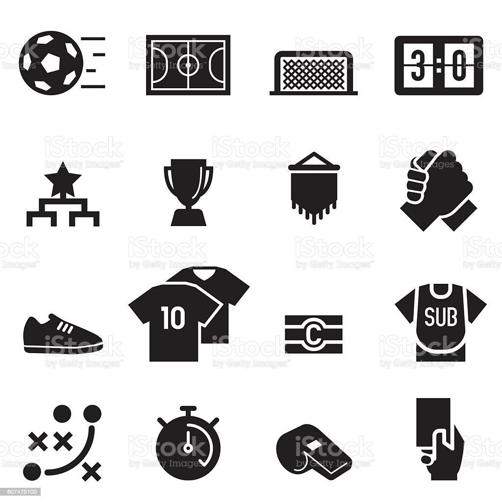 Futsal Icons [Black Edition] – Vektorgrafik