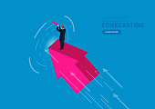Future business leadership concept, concept of business development