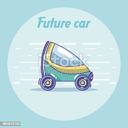Future Car Vehicle Concept Stock Vector Art & More Images of Above 964813100