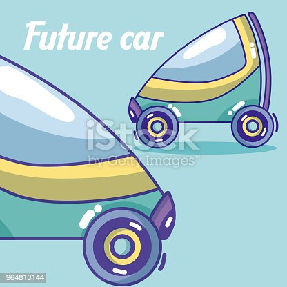 Future Cars Vehicle Stock Vector Art & More Images of Above 964813144