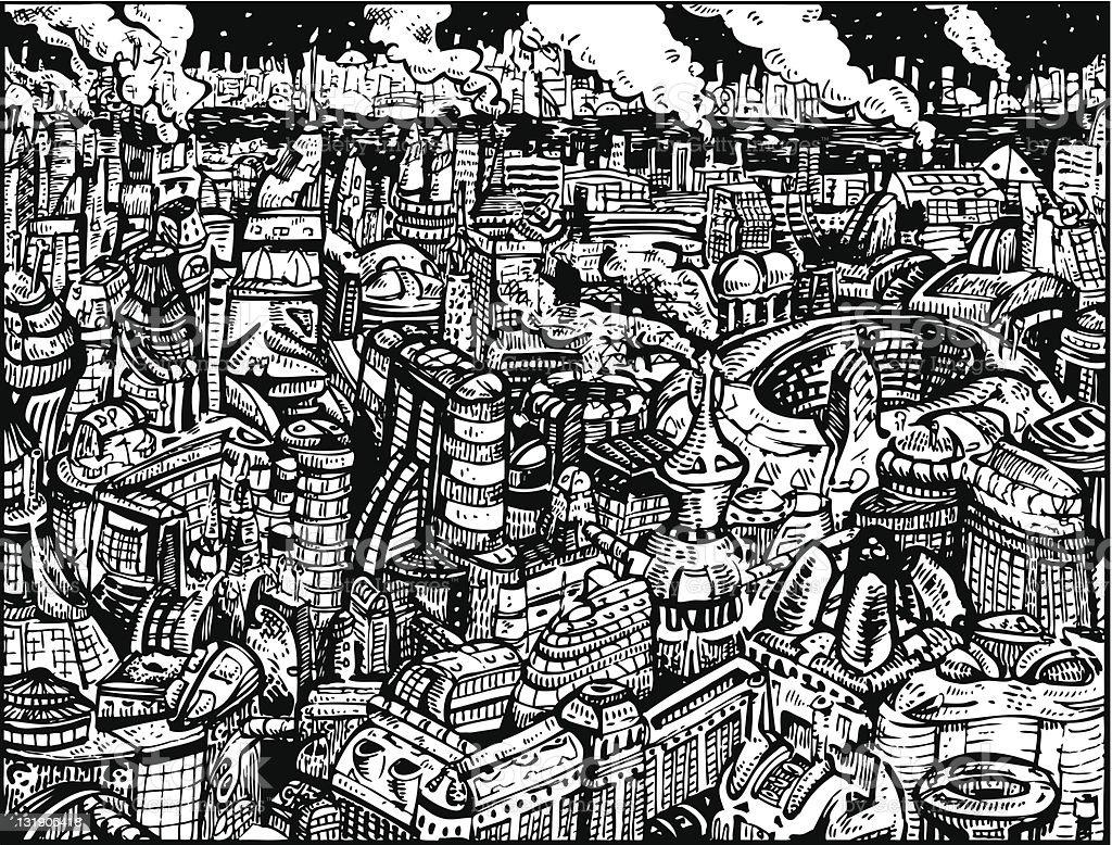 Future City I royalty-free stock vector art