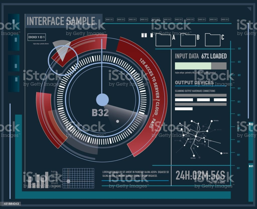 Future custom interface vector art illustration