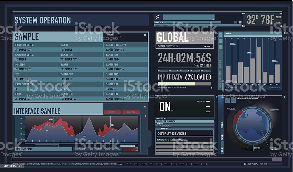Future custom interface wide vector art illustration