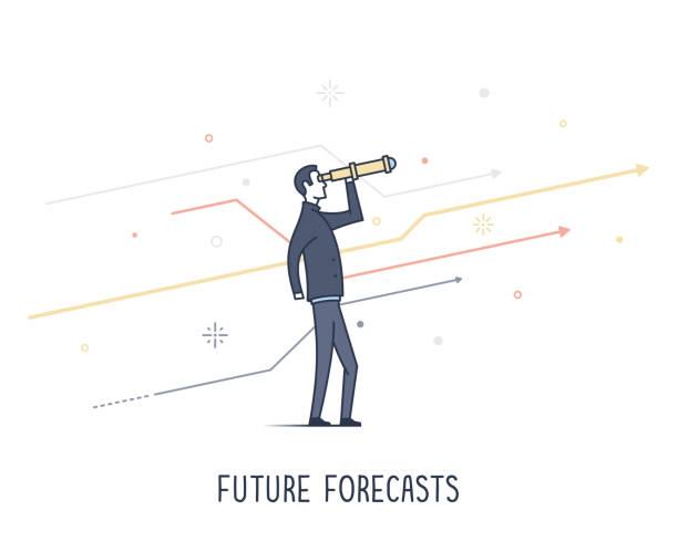 Future Forecasting vector art illustration