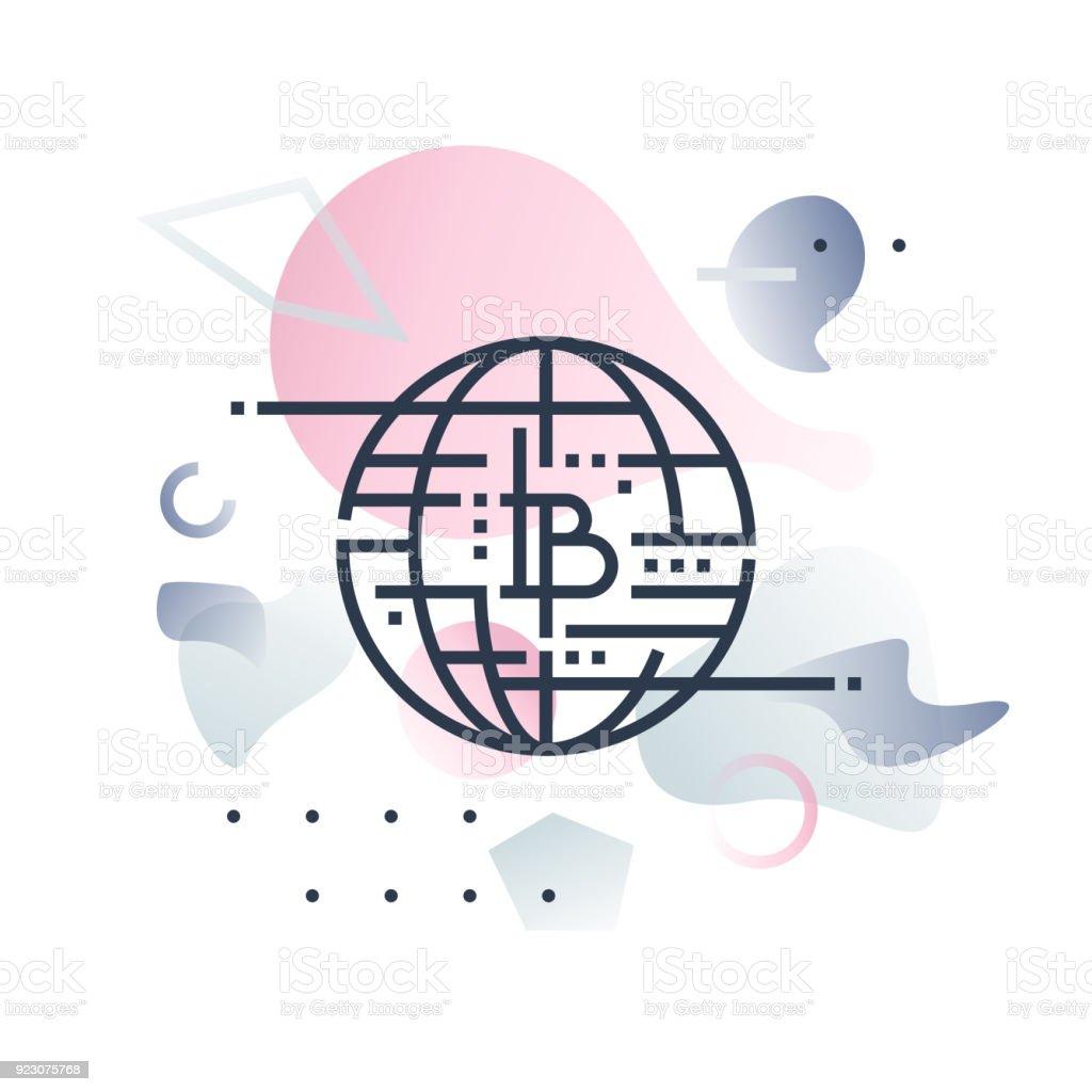 Future of Money Futuro Illustration vector art illustration