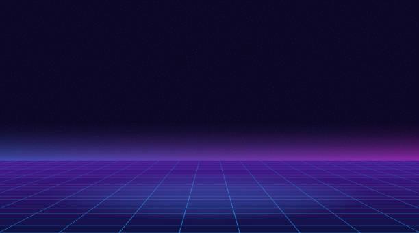 future-retro-line-background-of-the-80s-vector-futuristic-synth-retro-vector-id1097384996