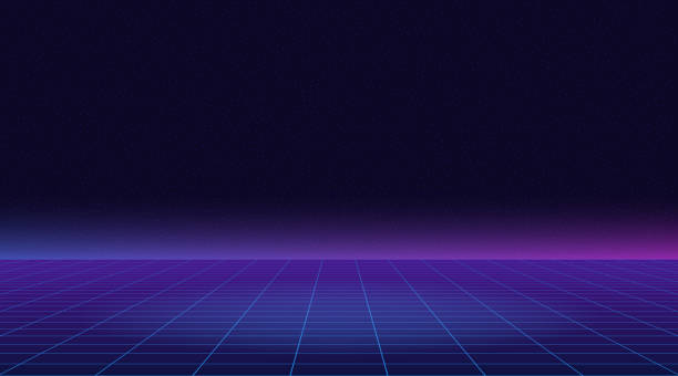 80 년대의 복고풍 미래 선 배경입니다. 1980 년대 포스터 스타일에서 벡터 미래 synth 복고풍 웨이브 일러스트 레이 션 - future stock illustrations