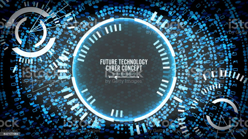 将来技術サイバー概念の背景抽象...