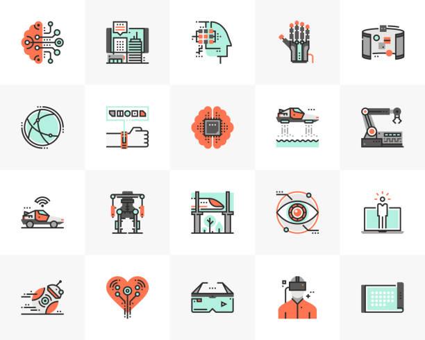 未來技術未來的下一個圖示包 - 現代 風格 幅插畫檔、美工圖案、卡通及圖標