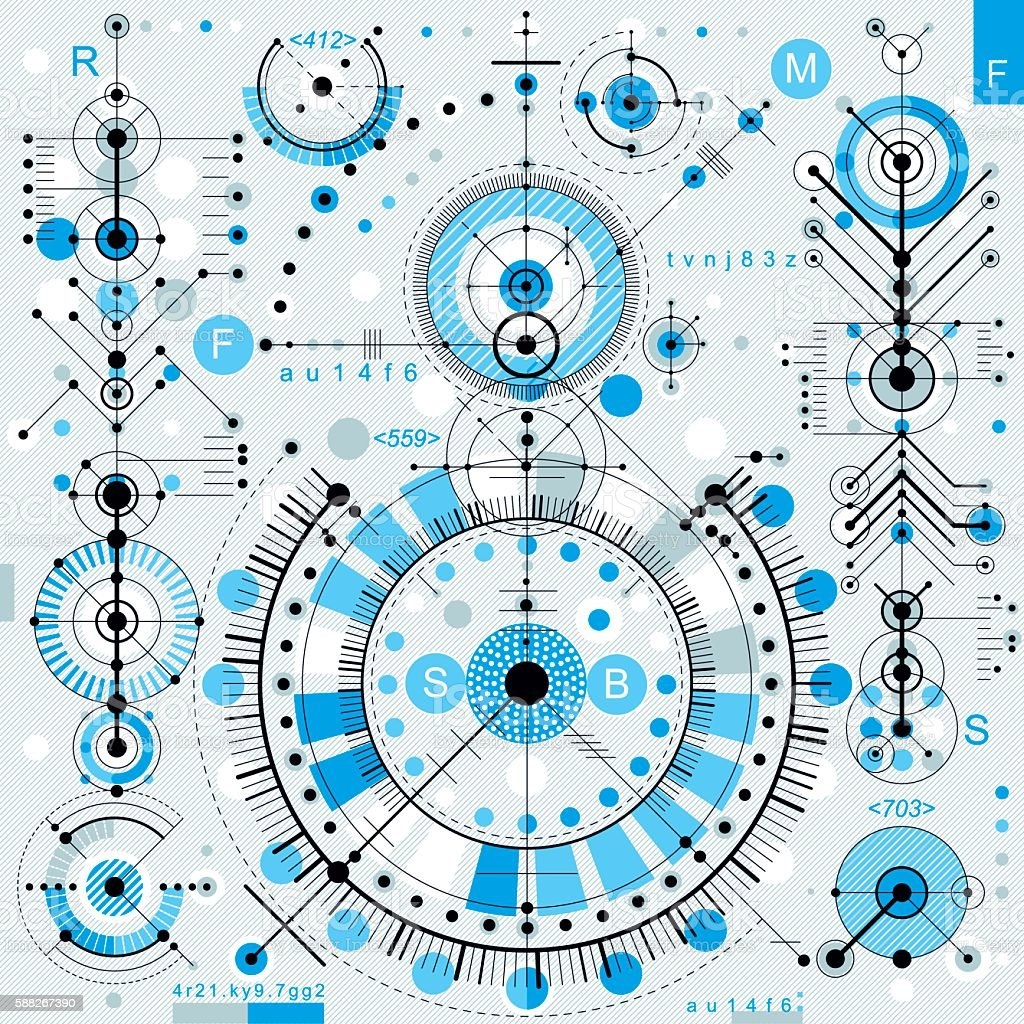 Future Technology Vector Drawing Industrial Wallpaper