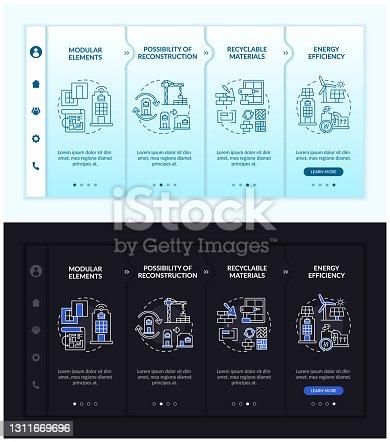 istock Future worksite building onboarding vector template 1311669696