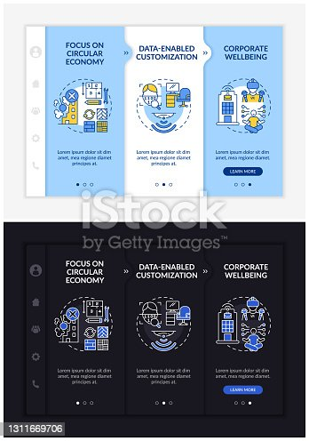 istock Future worksite design onboarding vector template 1311669706