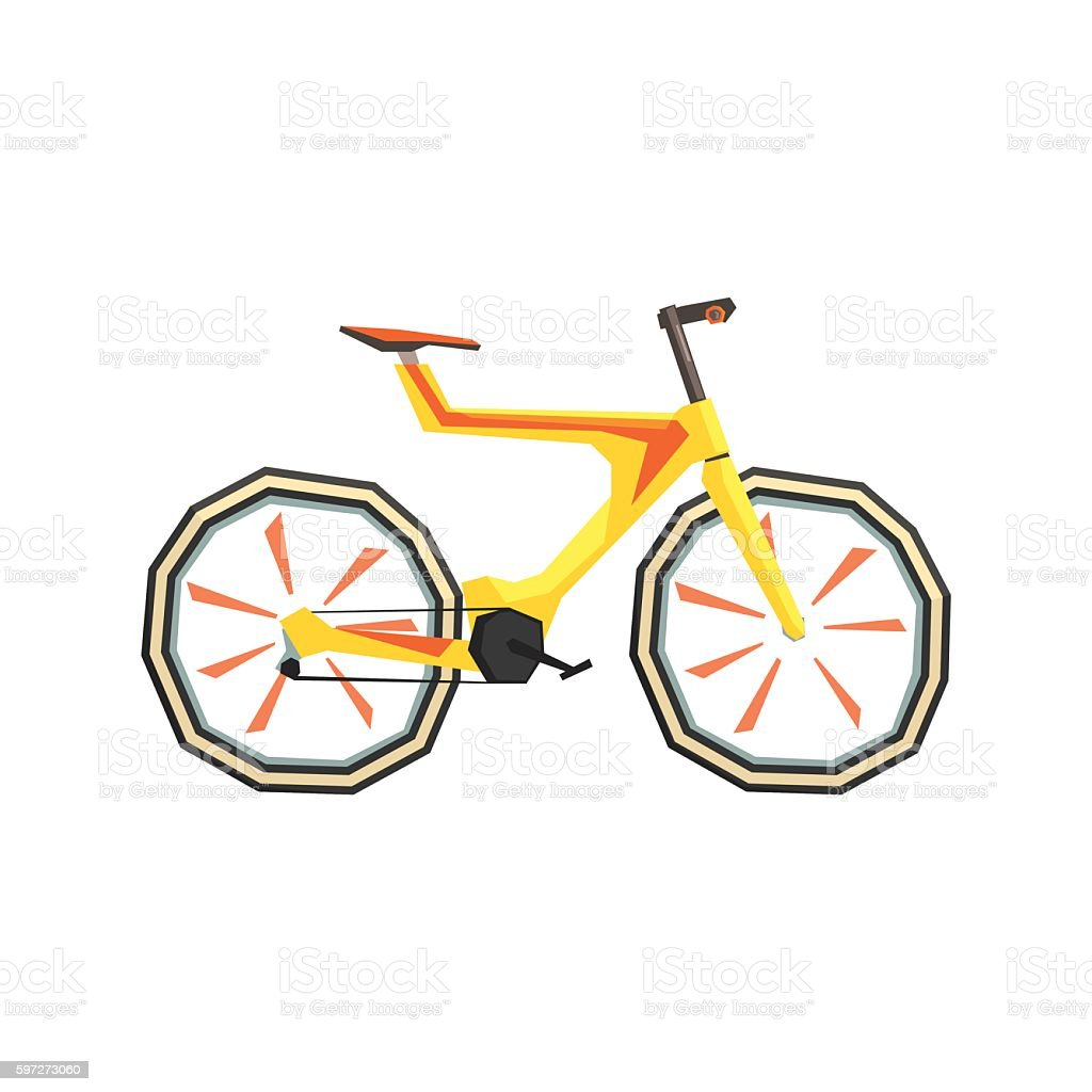 Futurictic Design Yellow Bicycle royalty-free futurictic design yellow bicycle stock vector art & more images of bicycle