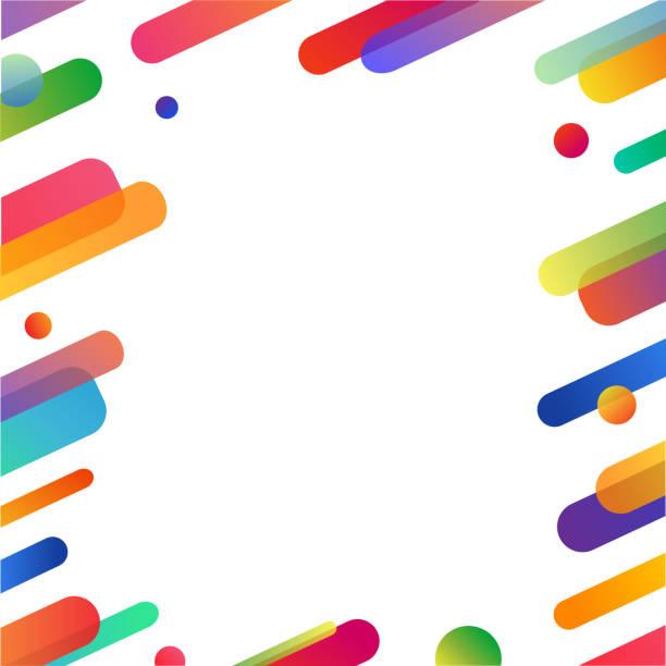 ilustraciones, imágenes clip art, dibujos animados e iconos de stock de diseño de fondo abstracto flyer futurismo con espacio de copia. patrón de ilustración vector brillantes y alegres colores para la publicidad de anuncios. - fondos coloridos