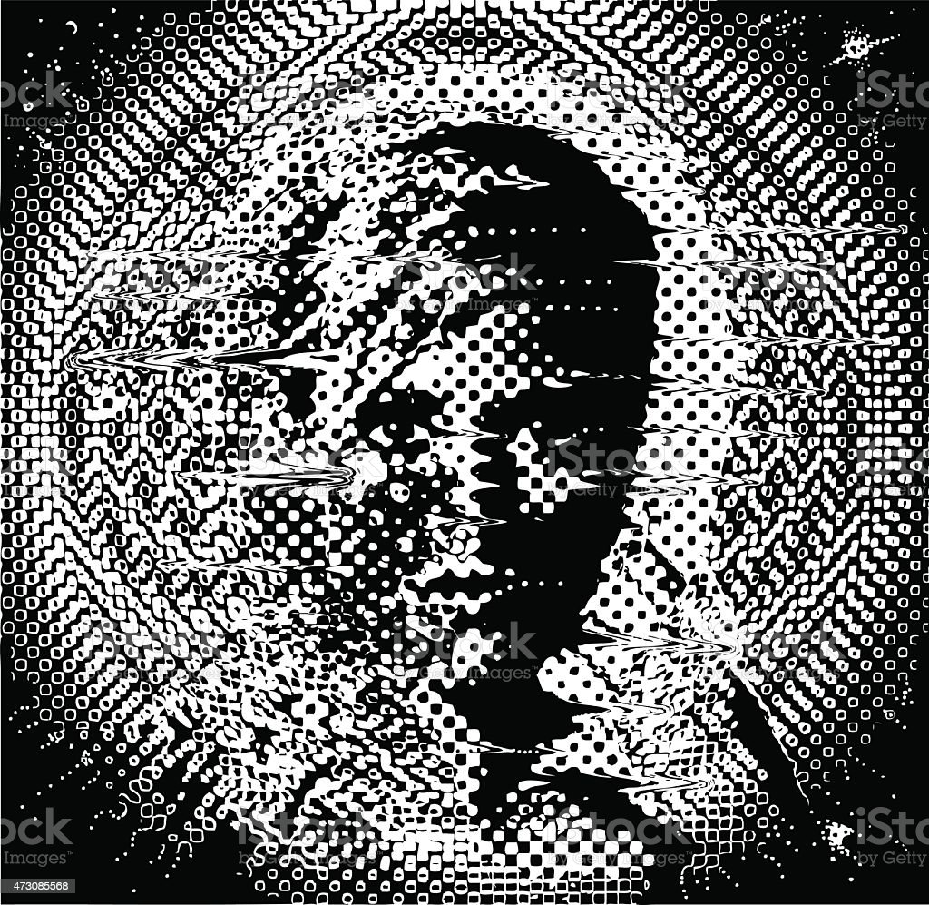 Futuristc Cosmic Woman vector art illustration