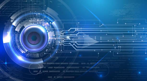 Futuristische abstrakte Cyber eye – Vektorgrafik