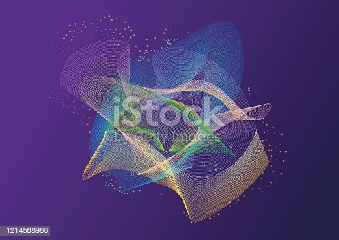952039816 istock photo Futuristic abstract digital background 1214588986