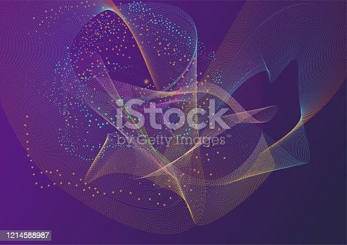 952039816 istock photo Futuristic abstract digital background 1214588987