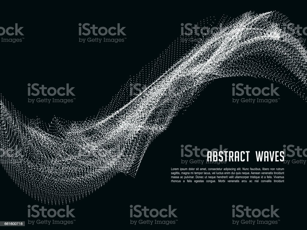 Futuristic abstract vector background with 3D illuminated sound wave. Banner and poster with color wavy structure illustration vector art illustration