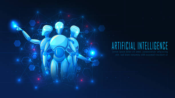 Futuristisches Ai-Roboterkonzept – Vektorgrafik