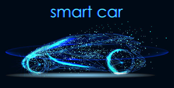 自主駕駛的未來汽車技術 - 獨立 幅插畫檔、美工圖案、卡通及圖標