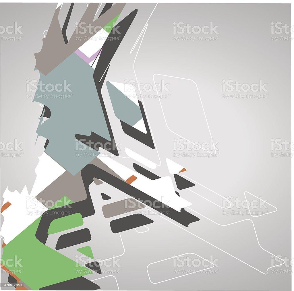 Futuristic background, geometric illustration. royalty-free stock vector art