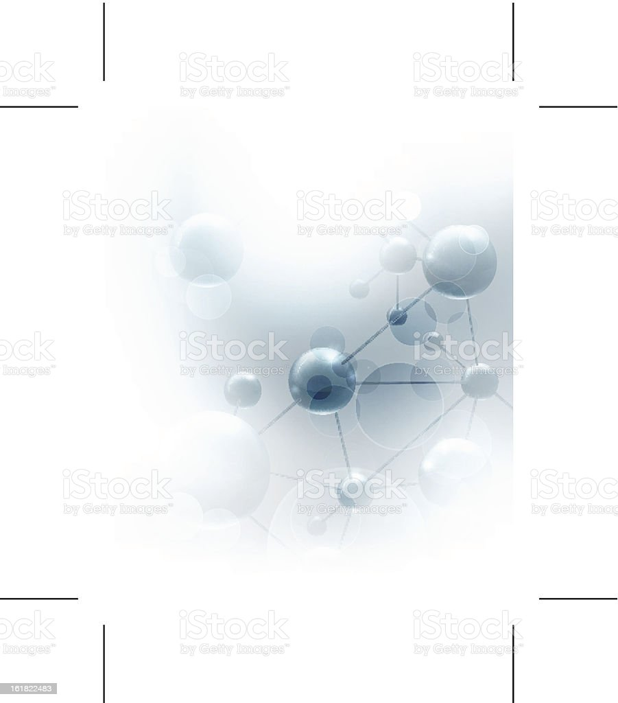 Futuristic background with molecules blue vector art illustration