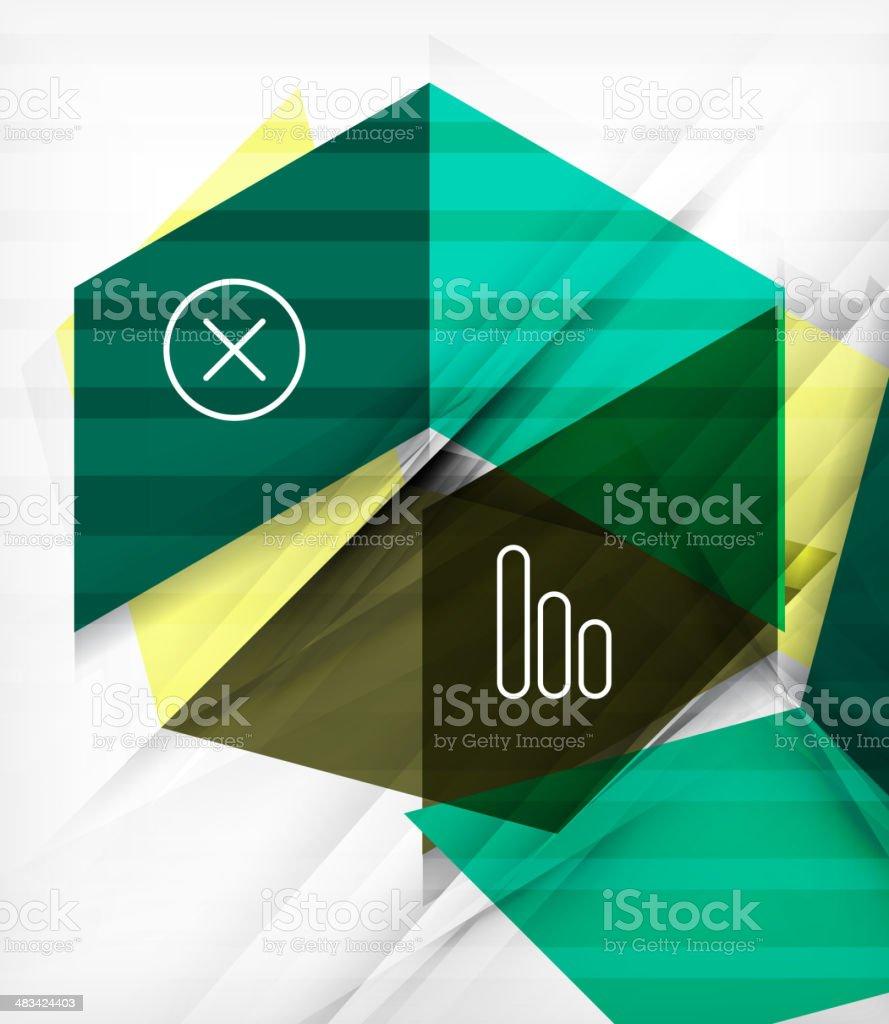 Futuristic blocks geometric abstract background vector art illustration