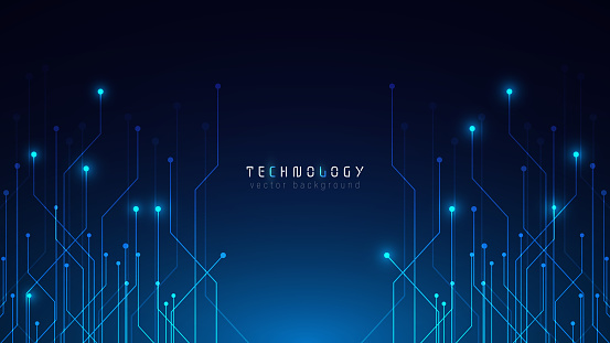 futuristic blue abstract circuit technology cyberspace vector background,speed data transfer background,technology communication connection graphic background