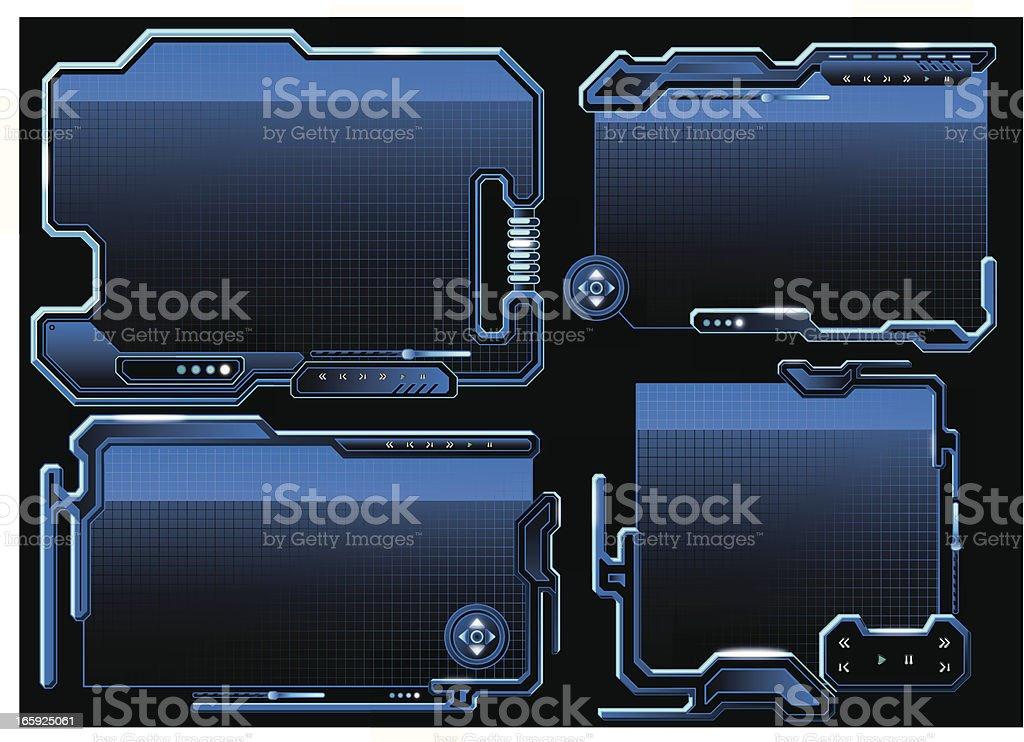 Futuristic Border vector art illustration