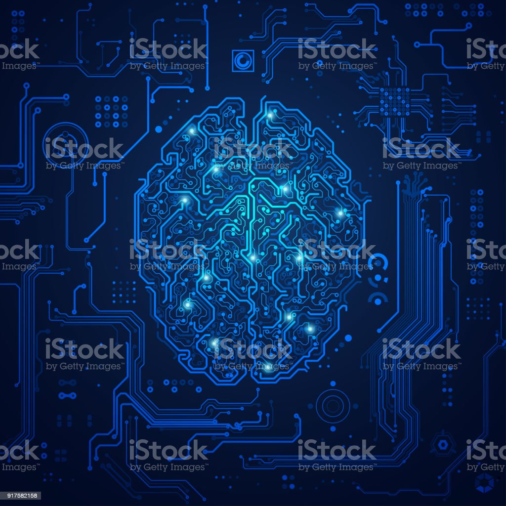 futuristic brain - Royalty-free Abstract stock vector