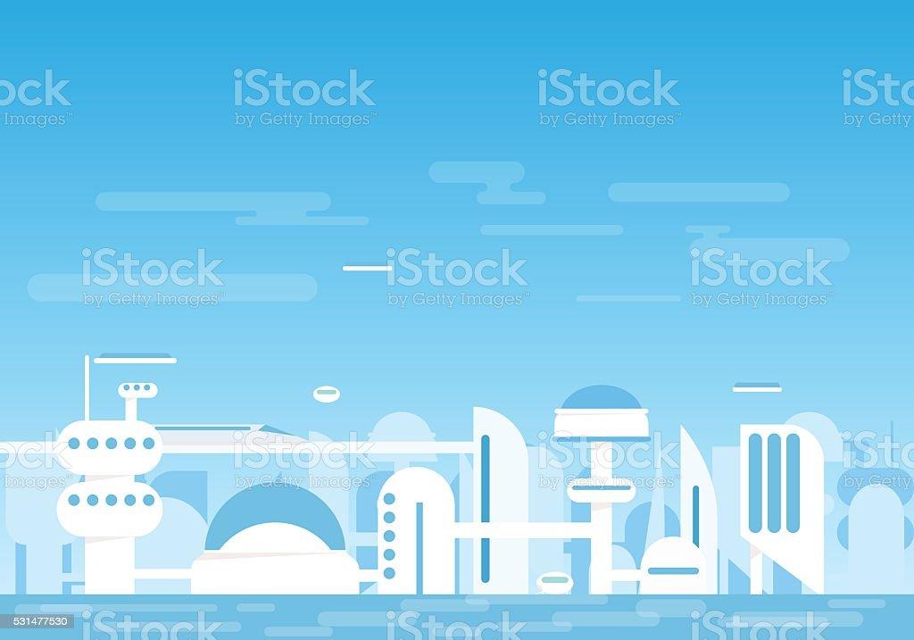 Futuristische Stadt – Vektorgrafik