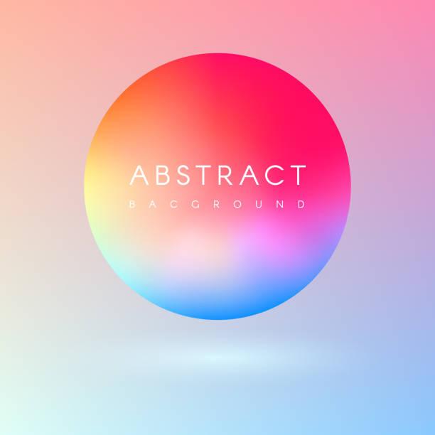 Futuristic colorful liquid colors 3d ball vector art illustration