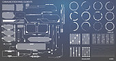 HUD Futuristic Communication Panel Element And Circles Equalizer Line Hi Tech User Interface Vector Background